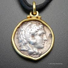 silver coin jewelry necklace images Twenty two karat yellow gold and ancient silver coin pendant jpg