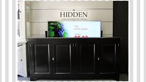 hidden tv lift meubel dressoir cabinet youtube haammss