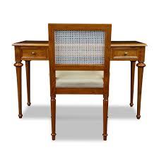 Schreibtisch Lang Schmal Hochwertiger Schreibtisch Mit Stuhl Kirsche Stilwohnen De