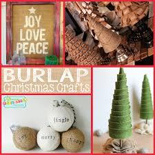 burlap christmas craft ideas home design inspirations