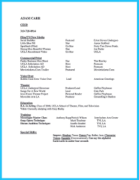 Resume Star Learning To Write An Audition Resume