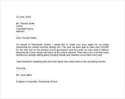 doc 585555 sponsorship thank you letter sample u2013 sample sponsor