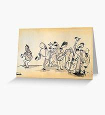 jazz greeting cards redbubble