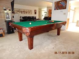 build a pool table stinger pool table with dark oak finish