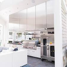 stainless steel integrated patio bbq design ideas