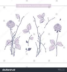 vector floral decor floral elements hand stock vector 411769072