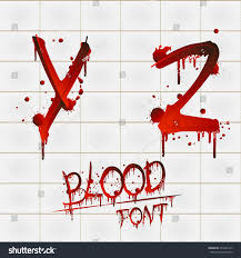 vector blood alphabet isolated on white stock vector 476665141