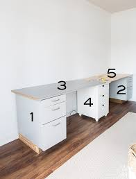 Craft Room Cabinets Craft Room Work Table Using File Cabinets In My Own Style