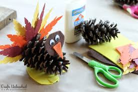 how to make a turkey out of a pine cone turkey craft for kids pine cone turkeys crafts unleashed