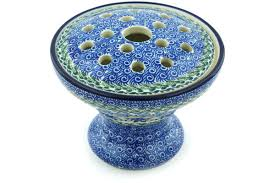 ikebana vase pottery 6 inch ikebana vase boleslawiec stoneware