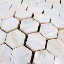 Mother Of Pearl Shell Tile Backsplash Bathroom Wall Sticker - Seashell backsplash