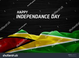 Gayana Flag Happy Independence Day Guyana Flag Wood Stock Photo 293702747