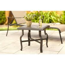 Small Metal Patio Side Tables Small White Plastic Patio Side Table Round Outdoor Glass Top Side