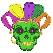 mardi gras embroidery designs gras skull applique machine embroidery design digitized pattern