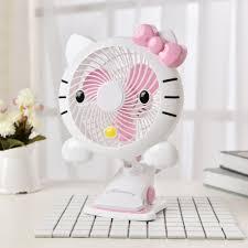 5v 3w pink hello kitty pattern usb 7 inch mini energy saving clip
