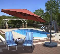 Sunbrella Patio Umbrella by Island Umbrella Victoria 13 Ft Octagonal Cantilever Terra Cotta
