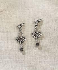 jim earrings jim shore fleur de lis earrings zulily de and earrings