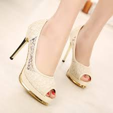 wedding shoes europe women high heels wedding shoes platform lace open toe color