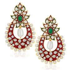 diamond earrings online buy online sukkhi designer gold plated australian diamond earrings