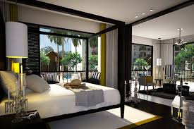 Luxurious Master Bedroom Decorating Ideas 2014 Bedroom Twin Size Black Modern Stained Solid Wood Canopy Bed