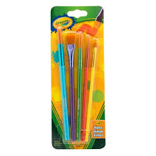 crayola paint brushes assorted tips 5ct target