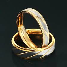 steel promise rings images Stainless steel gold and silver promise rings k and d apparel jpg