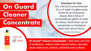 best doterra on guard cleaner concentrate review