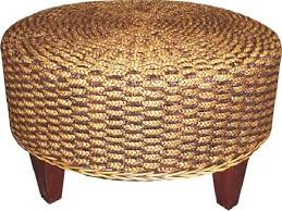 Seagrass Storage Ottoman Coffee Table Marvelous Round Seagrass Coffee Table Round Seagrass