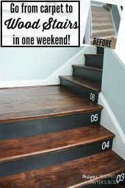 fabulous staircase makeover ideas remodelaholic 100 carpeted