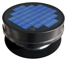 solaro aire solar powered attic fan embedded series