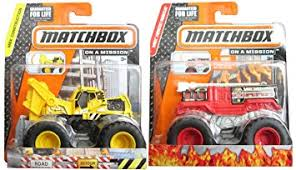 amazon matchbox flame stomper u0026 ready tractor monster