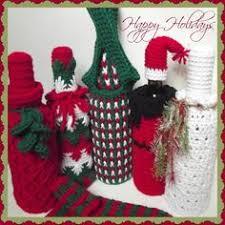 pattern for wine bottle holder lion brand bonbons crochet wine bottles and hats christmas