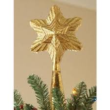 glass tree topper 12 gold by home decorators collection