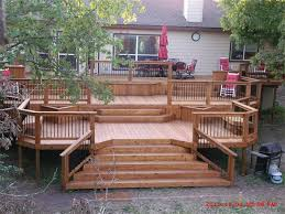 How To Build Wood Steps On A Deck Today U0027s Homeowner by Best 25 Backyard Deck Designs Ideas On Pinterest Decks Deck