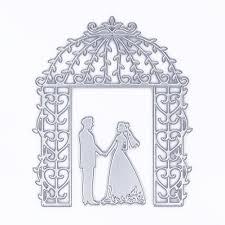 wedding metal cutting dies stencil diy embossing couples dies
