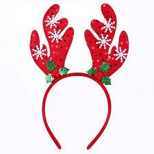 christmas headbands deer hoop christmas party hair band santa claus bell