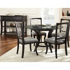 steve silver cy480t cy480b cayman round dining table in black