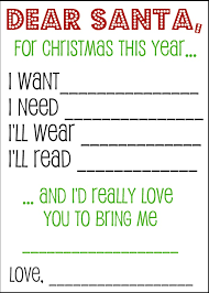 santa gift list christmas wish list santa letters and gift tags kids s santa