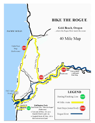Map Of Oregon Highways by Bike The Rogue Rotary Club Of Gold Beach Oregon