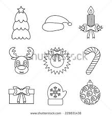 christmas ornament outline stock images royalty free images