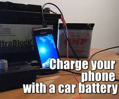 Charge Your Phone Charge Your Phone With A Car Battery 6v 24v 6 Steps