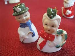 vintage set of 8 yuletide novelty porcelain tree ornaments japan