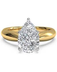 gold pear shaped engagement ring pear shaped engagement rings