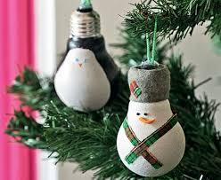 light bulb snowman ornament craft preschool crafts