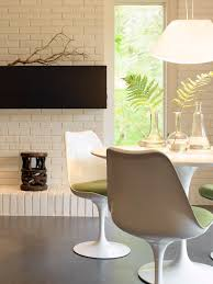 splashy armless chair in dining room contemporary with simple