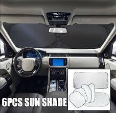 dsj 6pc silver car front rear side window sun shade sun blind