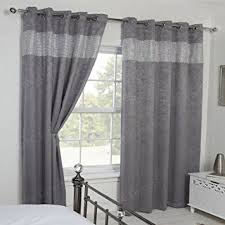 Grey And Silver Curtains Qpc Direct Luxury Heavy Velvet Style Diamante Blackout Thermal