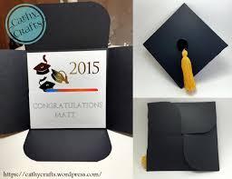 graduation cap invitations graduation cap card cathy crafts