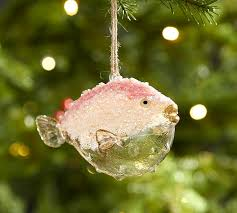 blowfish ornament pottery barn