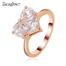 aliexpress buy beagloer new arrival ring gold beagloer bijoux married ring gold color zircon ring fashion